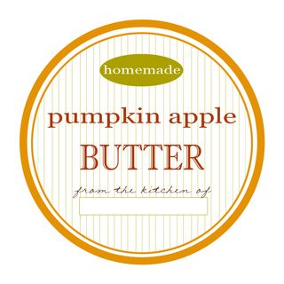 Pumpkin apple butter label-freebie